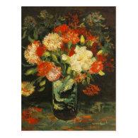 Vase with Carnations Vincent van Gogh Post Cards