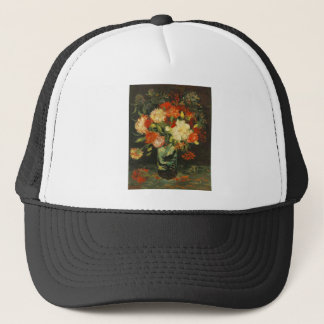 Vase with Carnations Vincent van Gogh Trucker Hat