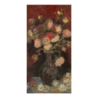 Vase with Chinese Asters and Gladioli by Van Gogh Card