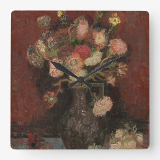 Vase with Chinese Asters and Gladioli by Van Gogh Wallclock