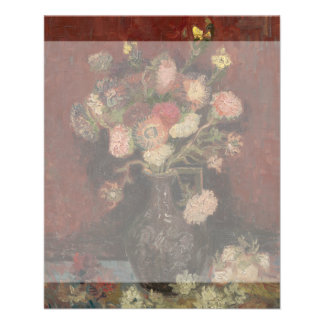 Vase with Chinese Asters and Gladioli by Van Gogh Flyer