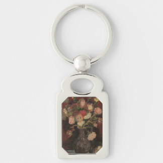 Vase with Chinese Asters and Gladioli by Van Gogh Keychain