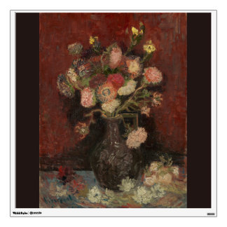 Vase with Chinese Asters and Gladioli by Van Gogh Wall Sticker