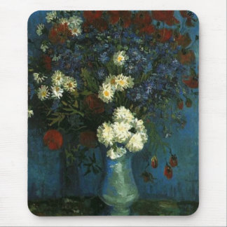 Vase with Cornflowers and Poppies, van Gogh Mouse Pad