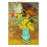 Vase with Daisies and Anemones Print Greeting Card