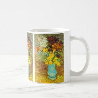 Vase with Daisies and Anemones Print Mug