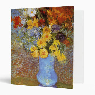 Vase with daisies and anemones - Van Gogh 3 Ring Binder