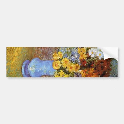 Vase with daisies and anemones - Van Gogh Car Bumper Sticker
