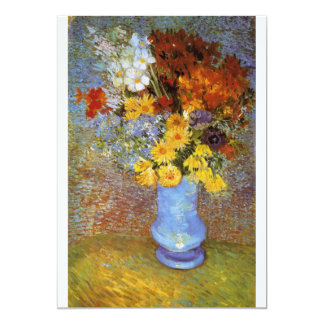 Vase with daisies and anemones - Van Gogh Card