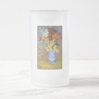Vase with daisies and anemones - Van Gogh Frosted Glass Beer Mug