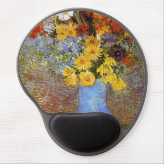 Vase with daisies and anemones - Van Gogh Gel Mouse Pad