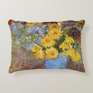 Vase with daisies and anemones - Van Gogh Accent Pillow