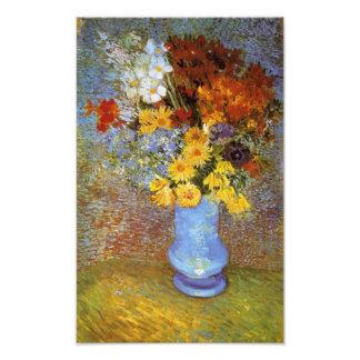 Vase with daisies and anemones - Van Gogh Photo Print
