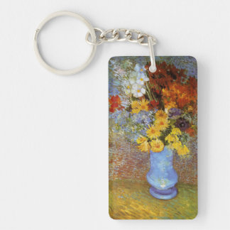 Vase with daisies and anemones - Van Gogh Single-Sided Rectangular Acrylic Keychain