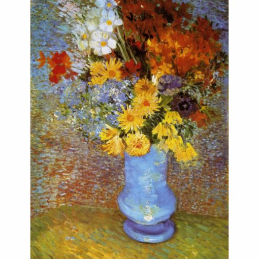 Vase with daisies and anemones - Van Gogh Statuette