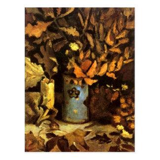 Vase with Dead Leaves Van Gogh Fine Art Postcard