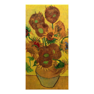 Vase with Fifteen Sunflowers by van Gogh Card