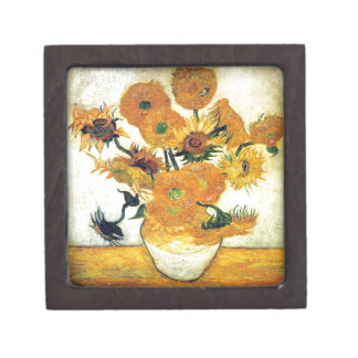 Vase with Fifteen Sunflowers by Vincent van Gogh 1 Gift Box