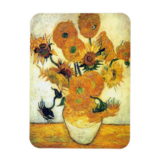 Vase with Fifteen Sunflowers by Vincent van Gogh Magnet