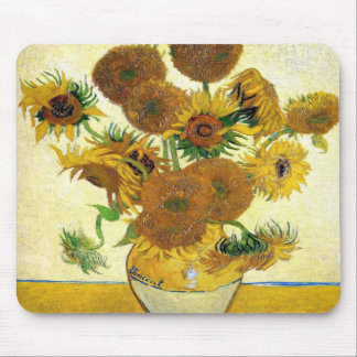 Vase With Fifteen Sunflowers By Vincent Van Gogh Mouse Pad