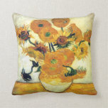 Vase with Fifteen Sunflowers by Vincent van Gogh Pillow