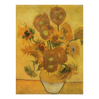Vase with Fifteen Sunflowers by Vincent van Gogh print
