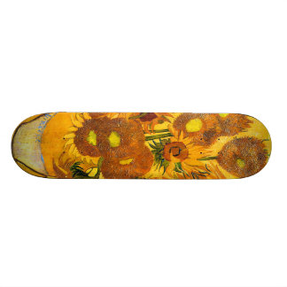 Vase with Fifteen Sunflowers by Vincent van Gogh Skateboard Deck