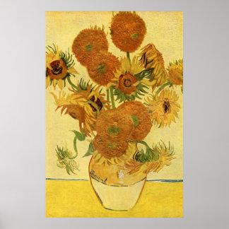 Vase with Fifteen Sunflowers, Van Gogh Fine Art Poster