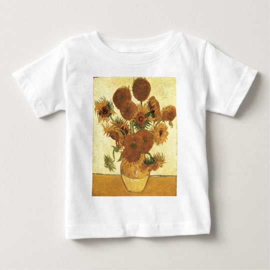 Vase with fifteen sunflowers,Vincent van Gogh Baby T-Shirt