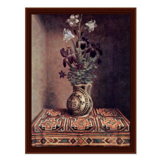 Vase With Flowers By Memling Hans Postcard
