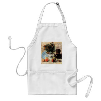 Vase with Flowers, Coffeepot and Fruit by Van Gogh Adult Apron
