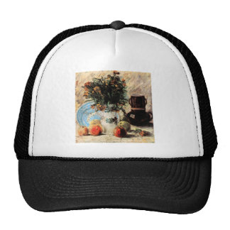 Vase with Flowers, Coffeepot and Fruit by Van Gogh Trucker Hat