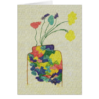 Vase with Flowers - Notecard Stationery Note Card
