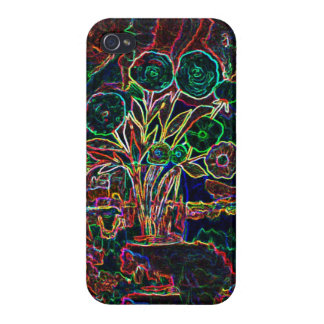 Vase with flowers - outlines iPhone 4/4S covers