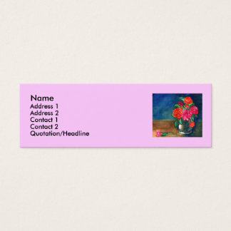 Vase with Flowers Template Mini Business Card