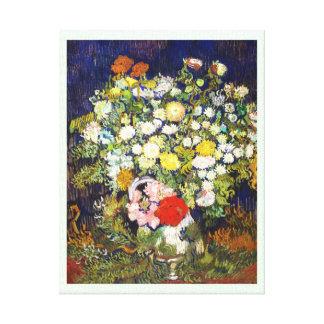 Vase with Flowers Vincent van Gogh fine art Stretched Canvas Print