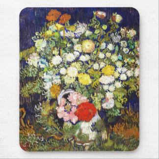 Vase with Flowers Vincent van Gogh fine art Mouse Pad
