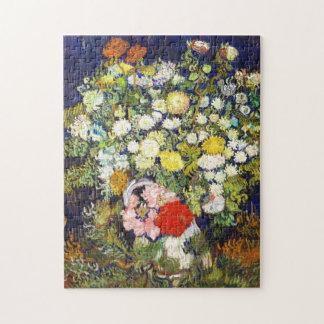 Vase with Flowers Vincent van Gogh fine art Jigsaw Puzzle