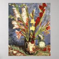 Vase with Gladioli 1886, Vincent van Gogh Poster