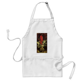 Vase with Gladioli and Carnations by Van Gogh Adult Apron