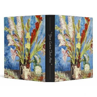 Vase with Gladioli and China Asters van gogh Binders