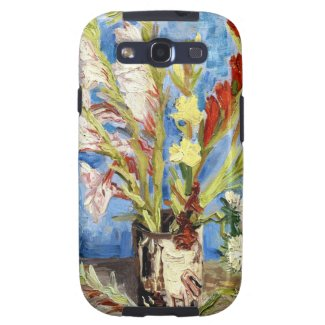 Vase with Gladioli and China Asters van gogh Galaxy S3 Cases