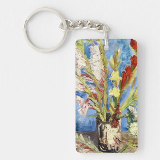 Vase with Gladioli and China Asters van gogh Keychain