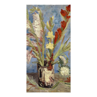 Vase with Gladioli and Chinese Asters by Van Gogh Card