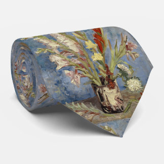 Vase with Gladioli and Chinese Asters by Van Gogh Neck Tie