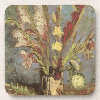 Vase with Gladioli by Vincent van Gogh Coaster