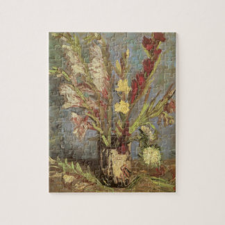 Vase with Gladioli by Vincent van Gogh Jigsaw Puzzle