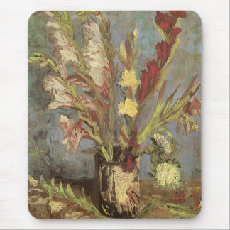 Vase with Gladioli by Vincent van Gogh Mouse Pad