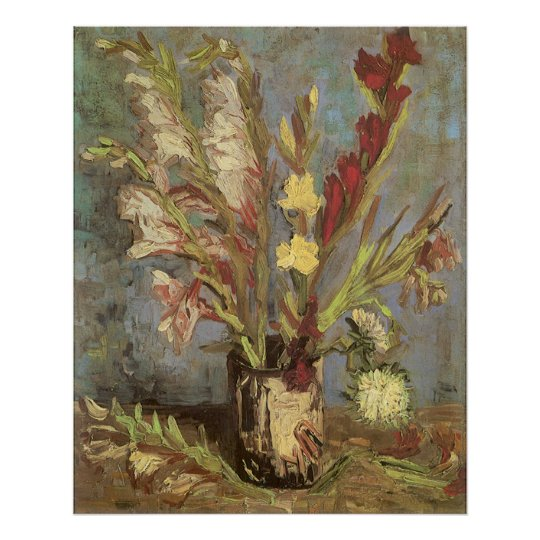 Vase with Gladioli by Vincent van Gogh Poster