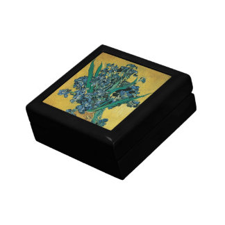 Vase with Irises by Vincent van Gogh, Vintage Art Jewelry Box